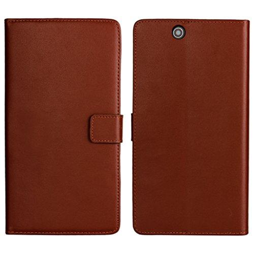 UKDANDANWEI Sony Xperia Z Ultra Hülle - Book-Style Wallet Case Flip Cover Etui Tasche Case mit Standfunktion Für Sony Xperia Z Ultra Braun