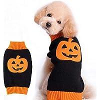 POPETPOP Un Paquete Suave de Calabaza,suéter de Mascota,Perro de Mascota,Perro de Halloween.