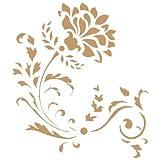TODO-STENCIL Stencil Deko Blumen 038 Arabesque Blume. Stencil Grösse: 20 x 20 cm Design Grösse: 16 x 14,3 cm