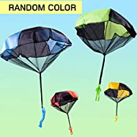 BIYI Funny Design Kids Hand Throwing Parachute Toy For Children Educational Parachute With Figure Soldier Outdoor Play Game (randomly delivered)