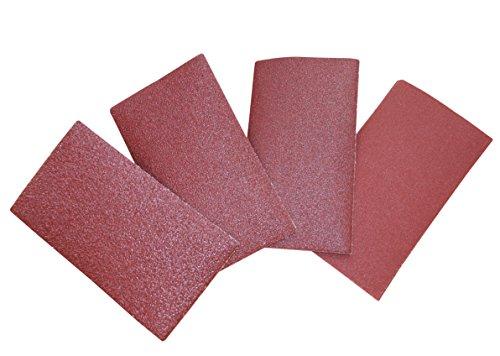 Schleifpapier Set, 40 Stück, Körnung 60, 80, 120, 220, mit Klett, für Holz, Gips, Basteln DIY