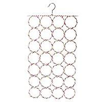 SUMAJU Ring Rope Slots Holder, 9/28 Hole Foldable Hook Scarf Wraps Shawl Storage Hanger Organizer