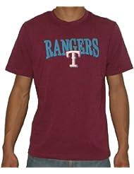 MLB Texas Rangers hommes Crew-Neck Cotton T-Shirt / Tee