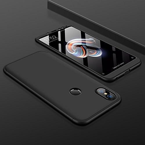 GKK Full Protection 360 Degree Back Cover Case for Redmi Note 5 Pro by Designer Hub (BLACK)