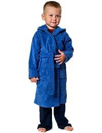 Childrens Túnica con capucha en edades 2 A 12 en Fuschcia o Royal azul, 100% algodón, Azul 6 años