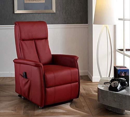 Design Twist Morgana Fauteuil alzapersona, Simili Cuir, Bordeaux, 82 x 74 x 117 cm