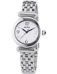 Seiko - SRZ403P1 - Montre Femme - Quartz Analogique - Cadran Blanc - Bracelet Acier Gris