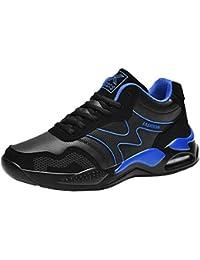 HEETEY - Zapatillas de Deporte para Hombre, con Acolchado de Aire, Suela de Perfil, Ligeras, para el Tiempo Libre, con Cordones Transpirables