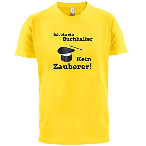 Ich bin ein Buchhalter, kein Zauberer - Herren T-Shirt - 13 Farben Gelb