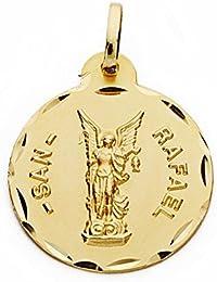 fc2a39eef46 Medalla oro 18k San Rafael 20mm. labrado tallado  AA2547