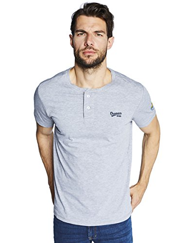 Oklahoma Jeans Herren T-Shirt Grau (Grey Melange 400)