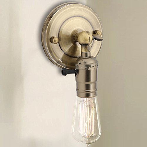 E27-socket-clamp (Vintage Licht Halter Wand Lampenfassung Edison mit Twist Schalter für Heimgebrauch Dekoration 220 V E26 E27 Retro Vintage Halter Haengeleuchte Deckenleuchte Adapter Beleuchtung für Küche, Schlafzimme(retro))