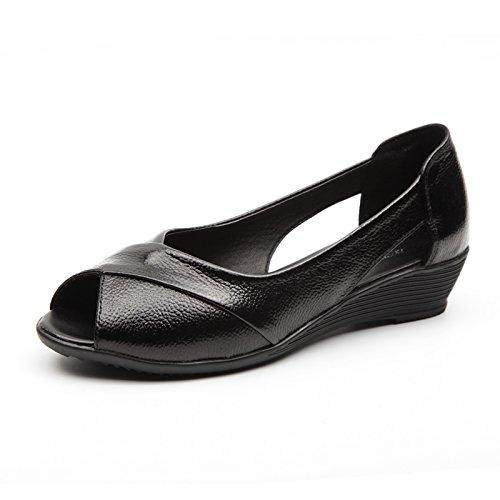 fan4zame Frauen Stöckelschuh Fashion Sandalen Schuhe beständig slipers Cool angenehm atmungsaktiv Sandalen 37 black