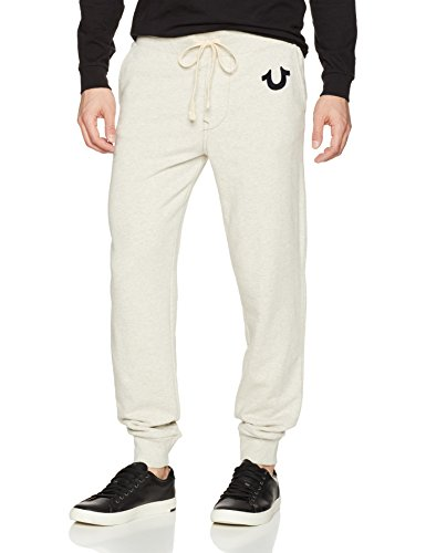 True Religion Herren Classic Logo Jogger Sweatpant2 Jogginghose, Hellbeige, XX-Large