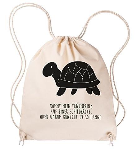 Mr. & Mrs. Panda Sportbeutel Schildkröte seitlich - 100% handmade in Norddeutschland - Schildkröte, Schildkröten, Dinosaurier, Schildie Sportbeutel, Gymsack, Hipster, Turnbeutel, Jutebeutel, Sporttasche, Tasche, Tragetasche Schildkröte, Schildkröten, Dinosaurier, Schildie