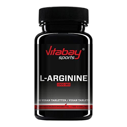 L-Arginine 1000 high dosed - Producto de calidad alemana, adecuado para personas alérgicas (60 tabletas)