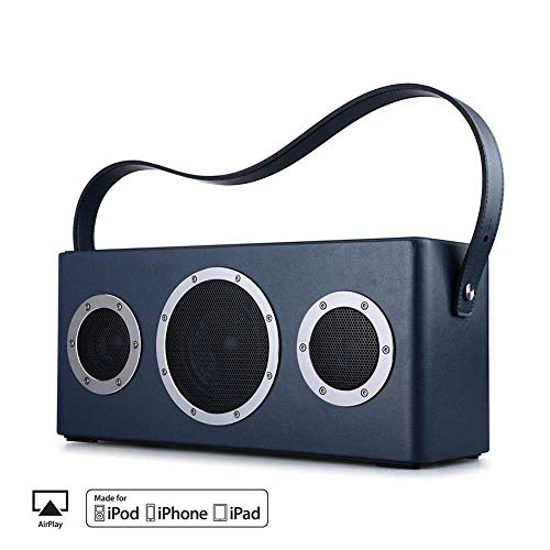 Ydq WLAN-Lautsprecher, Multiroom-Lautsprecher Mit HöHen- Und Bassregler; Satter Sound Und Kraftvoller Bass 40W Treiber, UnterstüTzt Die Anbindung An Spotify, Airplay, DLNA, IHeartRadio,Blue