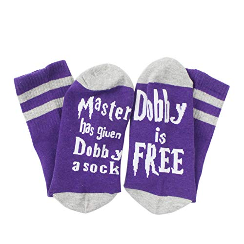 ge Socken - Master Has Given Dobby a Sock Dobby is Free Socken - Crew Baumwollsocken für Damen & Herren ()