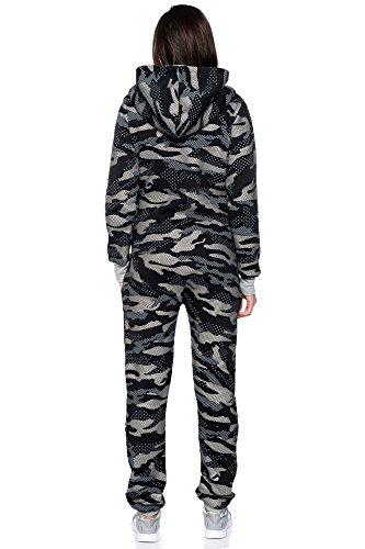 Crazy Age Jumpsuit Overall Einteiler CA 2840 Trendigen Camouflage Farben (XL, Schwarz (A)) - 4