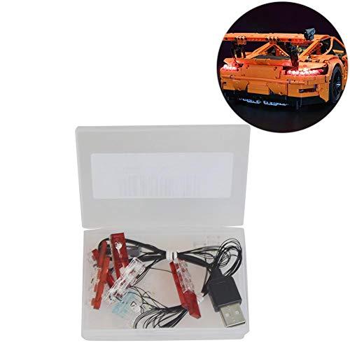 SinceY LED Licht Beleuchtung Kit, DIY Leuchtende Bausteine, Beleuchtungssatz Für Lego 42056 Für Porsche 911 GT3 RS (NUR FÜR LED-LEUCHTEN)
