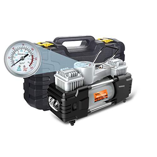 Reifenfüller Tragbare Luftkompressorpumpe, Reifenfüller, Hochleistungs-Doppelzylinder-Luftpumpe, 150PSI, Doppelzylinder für Auto/Limousine/Motor/Fahrrad -