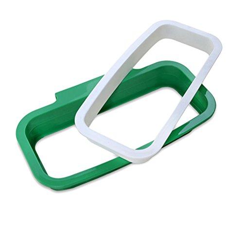 ounona Schrank Tür Garbage Bag Aufhängen Rack Abfall Trash Tasche HOLDER Organizer Container Kunststoff Aufbewahrungstasche Halter für Küche (grün) (Mülleimer-beutel-halter)