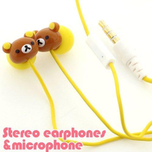 San-X Rilakkuma Stereo Earphones with Microphone for iPhone/iPod (Korilakkuma) (japan import) - Rilakkuma Ipod