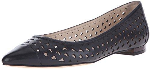 Nine West Ashling Leather Ballet Flat Black Leather