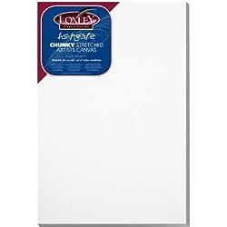 Loxley ACC-3020 - Lienzo preestirado, color blanco