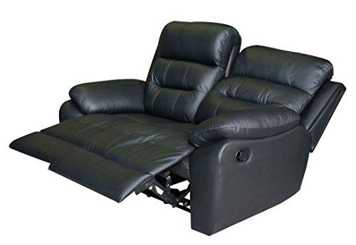 Voll-Leder Fernsehsofa Relaxsofa 2-Sitzer 5131-2-S