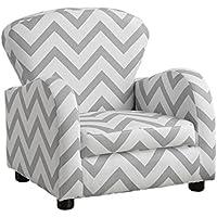 """Preisvergleich für Monarch Juvenile Stuhl, Textil, grau/weiß, 20""""L x 17""""D/W x 20""""H"""