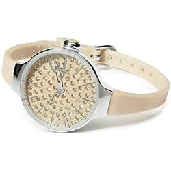 HOOPS Uhren Cherie Diamond Damen Uhrzeit Beige - 2483ld-02