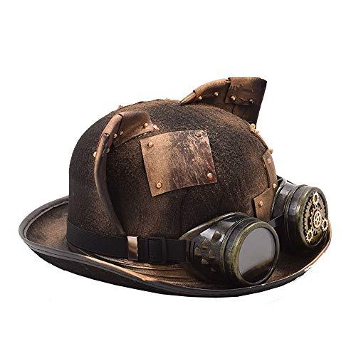 GHC gorras y sombreros Sombrero de parche con gafas Patch Gear Deco Fedora  Headwear 9574259bf5b