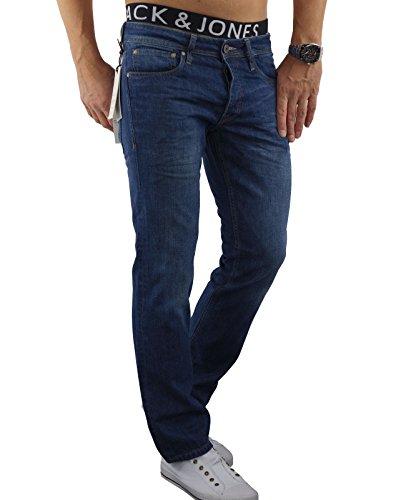 JACK & JONES Mens Clark Original Gerades Bein Jeans Mitte Stein Gebraucht Eignen Suchen W32- L32 -
