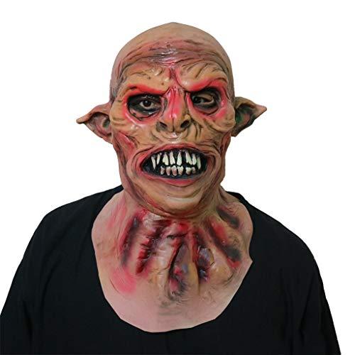 GXDHOME Halloween Latex Kopf Masken, Werwölfe Monste Grimasse Kostüm Spukhaus Horror Zombie Lustige Scary Creepy Ghost ()