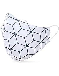 tanzmuster ® Behelfsmaske waschbar 100% Baumwolle - Nasenbügel und Filtertasche - Mund und Nasenschutz 2-lagig - OEKO-TEX Standard 100