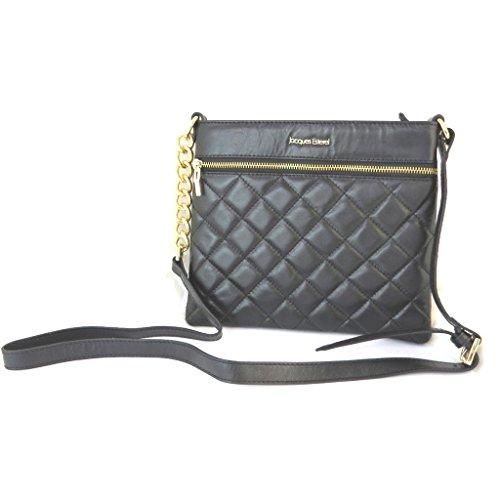 Bolsa de cuero 'Jacques Esterel'negro - 25x22.5x2 cm.