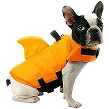 FONLAM Chaleco Salvavidas para Mascotas Chaqueta Chaleco de Seguridad Perro Perrito Ajustable con Aleta de Tirubón