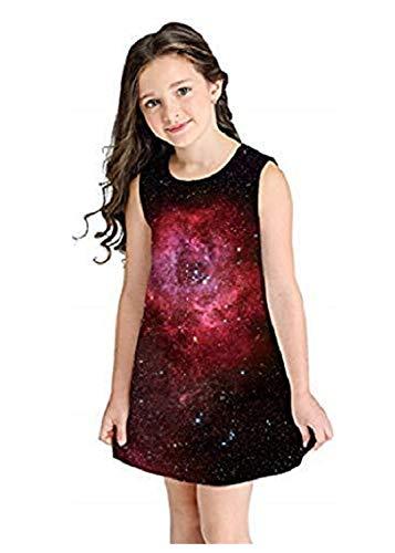 MRURIC Kinderbekleidung,Jugendlich Kleinkind-Kindermädchen-Sommer-Karikatur-3D kleidet beiläufige Kleidung,Blase Pfau Kleid Party Kleidung Printkleider Partykleider Sommerkleider