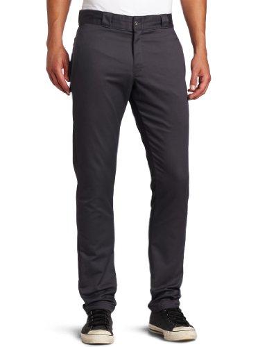 Dickies Skinny Fit pantaloni Chino Nero Grey 28W x 32L