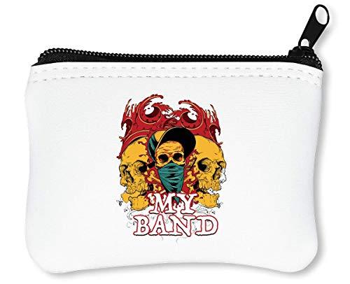 My Band Skulls Reißverschluss-Geldbörse Brieftasche Geldbörse -
