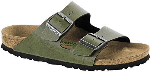 BIRKENSTOCK Arizona Pull Up Olive Vegan Birko-Flor
