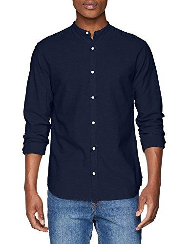 Jack & jones premium jprsummer mao shirt l/s sts, camicia formale uomo, blu (sargasso sea fit: slim fit), xx-large
