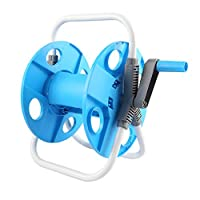 Hose Reel,Portable Water Gun Kit Gardening Storage Pipe Holder for Watering Plants Car Wash (Color : Blue, Size : 29X23.5X42CM)