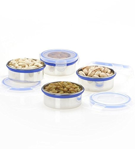 [Sponsored]Nonu Stainless Steel Airtight Storage Containers Set Of 4 Pcs- 350ml Each……
