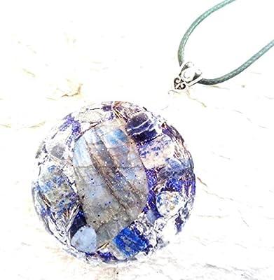 Orgone Orgonite Labradorite Pendentif, protection contre les CEM de Lapis Lazuli, énergie positive