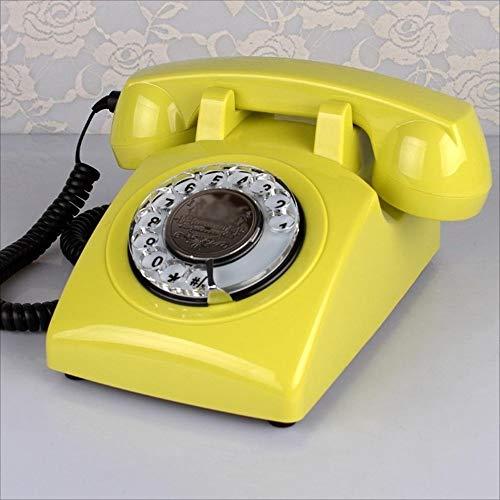 YAGEER Telefon zu Hause Telefon/Europäischen Antiken Dreh Telefon/Home Office Festtelefon/ABS Kunststoff Telefon / 23 * 13 * 13 cm (Farbe : D)