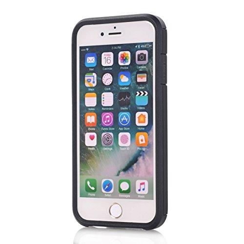 "MOONCASE iPhone 7 Coque, 2 in 1 Hybrid Durable Armure Defender Housse Slim Fit Anti-rayures Anti-choc Protection Étuis Case pour iPhone 7 4.7"" Vert Noir"