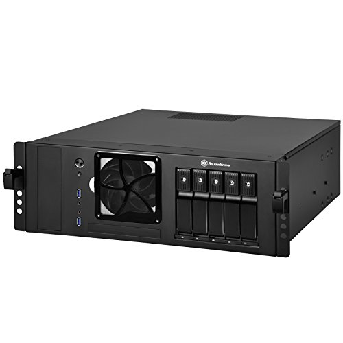 "SilverStone SST-CS350B - Case Storage ATX Computer Case, support 5x 3.5"" Hot-Swap HDD Bays with trayless and screwless design, black"