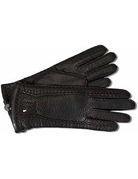 Hervorragende Luxus Lederhandschuhe aus feinem Peccaryleder schwarz